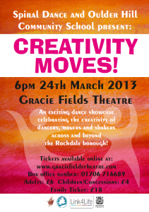 2013 Creativity Moves Flyer